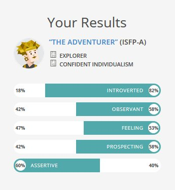 Personality Type The Adventurer Isfp A Ind I