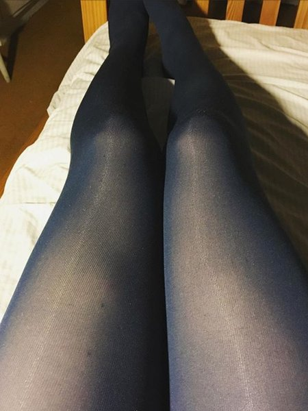 With Wearing pantyhose allday can